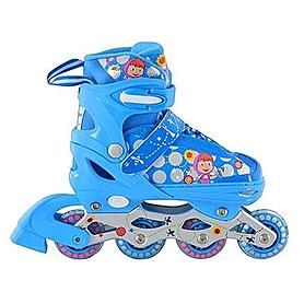 Коньки роликовые раздвижные Profi Roller A4051-M синие