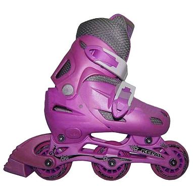 Коньки роликовые раздвижные Kepai STAR-9 розовые