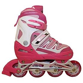 Коньки роликовые раздвижные Kepai F1-K10 розовые