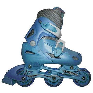 Коньки роликовые раздвижные Kepai STAR-9 голубые