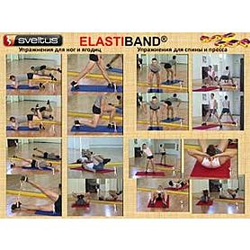 Фото 6 к товару Эспандер для фитнеса Maxi Elastiband 10 кг (110 см) Sveltus