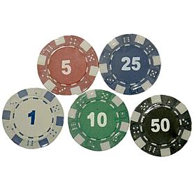 Фото 3 к товару Фишки для покера, 25 шт.