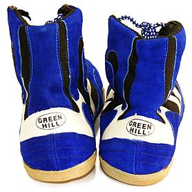 Фото 3 к товару Борцовки кожаные Green Hill синие