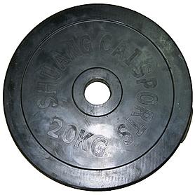 Фото 2 к товару Диск обрезиненный 20 кг, диаметр - 52 мм - уцененный*