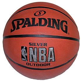 Фото 2 к товару Мяч баскетбольный Spalding NBA Silver Outdoor