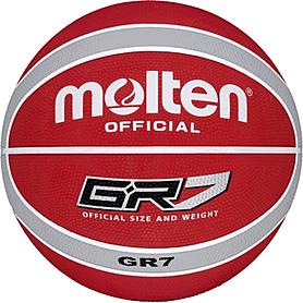 Фото 1 к товару Мяч баскетбольный резиновый Molten BGR7-RW