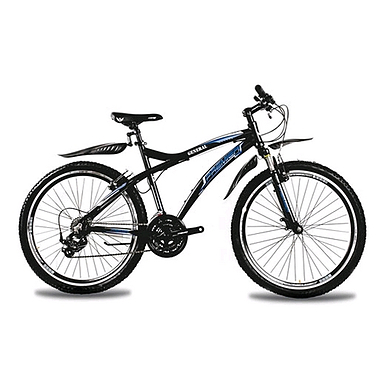 Велосипед горный Premier General 26'' черный с голубым рама 19