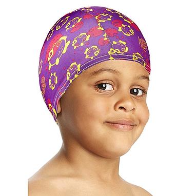 Шапочка для плавания детская Speedo Sea Squad Poly Cap Ju Assorted фиолетовая
