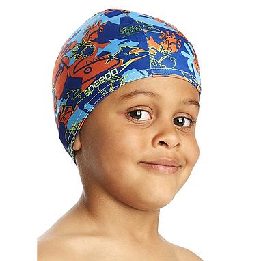 Шапочка для плавания детская Speedo Sea Squad Poly Cap Ju Assorted синяя