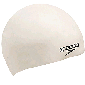 Фото 1 к товару Шапочка для плавания детская Speedo  Moulded Silicone Cap Ju White