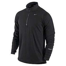 Фото 1 к товару Футболка мужская Nike Element 1/2 Zip черная