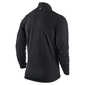 Фото 2 к товару Футболка мужская Nike Element 1/2 Zip черная