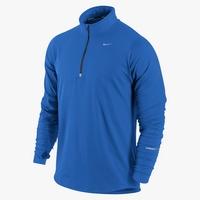 Фото 1 к товару Футболка мужская Nike Element 1/2 Zip синяя