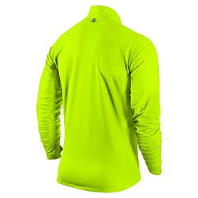 Фото 2 к товару Футболка мужская Nike Element 1/2 Zip зеленая