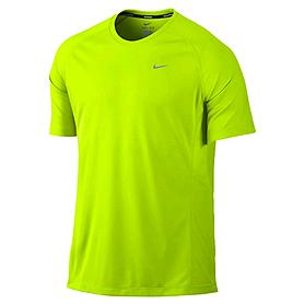 Фото 1 к товару Футболка мужская Nike Miler SS UV (Team) зеленая