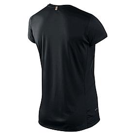 Фото 2 к товару Футболка женская Nike Miler SS Crew Top черная