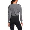 Футболка женская Nike Epic Cool Touch LS Crew серая с черным - фото 3