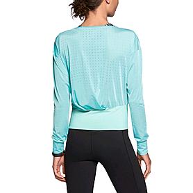 Фото 3 к товару Футболка женская Nike Epic Cool Touch LS Crew голубая