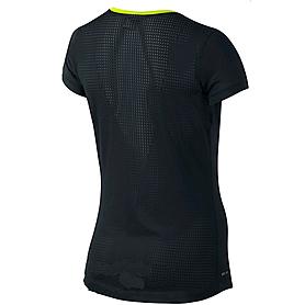 Фото 2 к товару Футболка женская Nike Pro Hypercool SS Top черная 589377-012