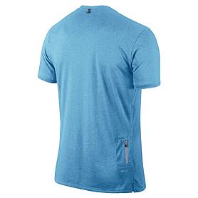 Фото 2 к товару Футболка мужская Nike Tailwind SS V голубая