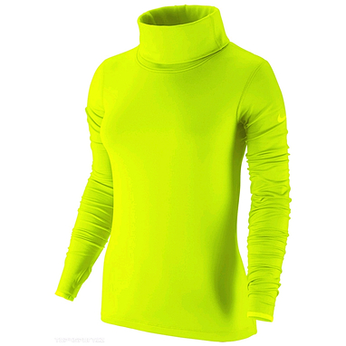 Футболка женская Nike Pro Hyperwarm Infinity салатовая