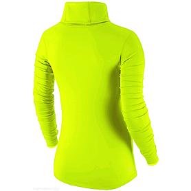 Фото 2 к товару Футболка женская Nike Pro Hyperwarm Infinity салатовая
