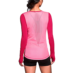 Футболка женская Nike Pro Hypercool LS Top розовая