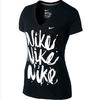 Футболка женская Nike Brush Up SS VNeck Tee - фото 1