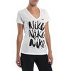 Футболка женская Nike Brush Up SS VNeck Tee белая - фото 2