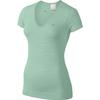 Футболка женская Nike Dri-Fit Knit Texture V-Neck зеленая - фото 1