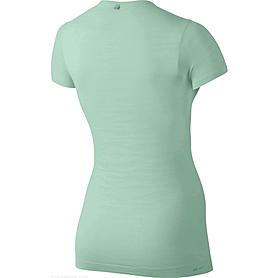 Фото 2 к товару Футболка женская Nike Dri-Fit Knit Texture V-Neck зеленая