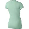 Футболка женская Nike Dri-Fit Knit Texture V-Neck зеленая - фото 2