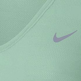 Фото 3 к товару Футболка женская Nike Dri-Fit Knit Texture V-Neck зеленая