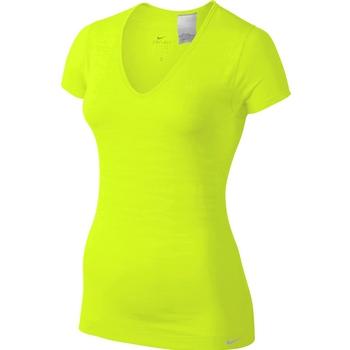 Футболка женская Nike Dri-Fit Knit Texture V-Neck