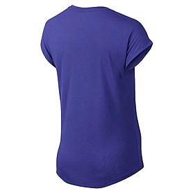 Фото 2 к товару Футболка женская Nike Club Boxy Tee Logo синяя 637553-455