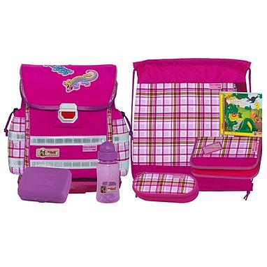 Ранец для школьников McNeill Caro Gekko Pink + подарок