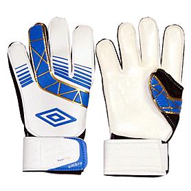 Перчатки вратарские Umbro бело-синие UMB-FB-835