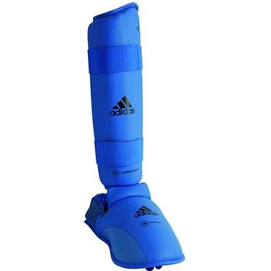 Защита для ног (голень+стопа) Adidas WKF синяя
