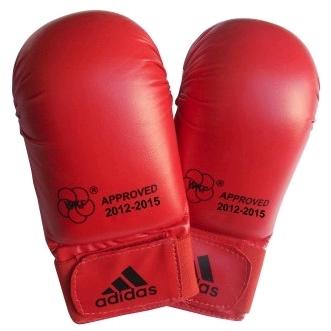 Накладки для карате Adidas WKF красные