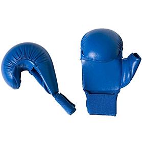 Накладки для карате с защитой большого пальца Adidas WKF синие - L
