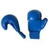 Накладки для карате с защитой большого пальца Adidas WKF синие - фото 1