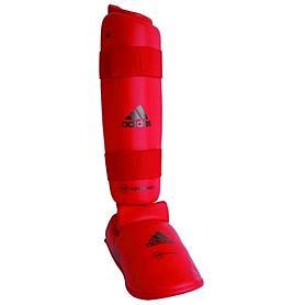 Защита для ног (голень+стопа) Adidas WKF красная - XL