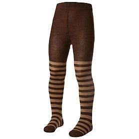 Колготки детские Norveg Merino Wool коричневые с бежевыми полосами