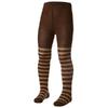 Колготки детские Norveg Merino Wool коричневые с бежевыми полосами - фото 1