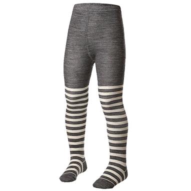 Колготки детские Norveg Merino Wool серые с белыми полосами