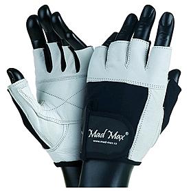 Перчатки спортивные Mad Max Fitness белые