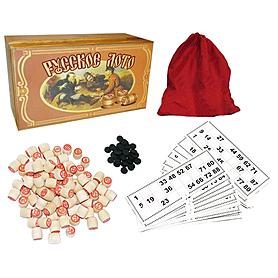 Игра настольная «Русское лото» в бамбуковой коробке