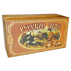 Фото 4 к товару Игра настольная «Русское лото» в бамбуковой коробке