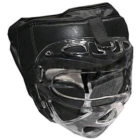 Фото 1 к товару Шлем с маской (кожа) Everlast черный