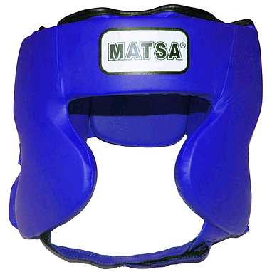 Шлем боксерский закрытый MATSA синий